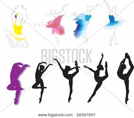 ballet, vector