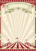 stock photo of tent  - Vintage circus - JPG