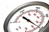 stock photo of gage  - A Pressure Gauge Reading a Pressure of 8000 PSI - JPG