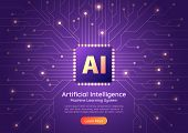 Artificial Intelligence Ai Chip On Computer Circuit Board poster