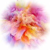 Digital Life Of Colorful Paint Splash Explosion poster