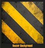 Grungy hazard stripes texture. Vector illustration