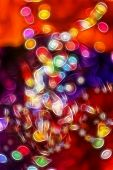 Shine Bulbs Lights Background:blur Of Christmas Wallpaper Decorations Concept.holiday Festival Backd poster