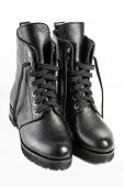 Ladies Fashion Leather Shoes For Autumn, Spring, European Winter. Boots For A Modern Grunge Woman. W poster
