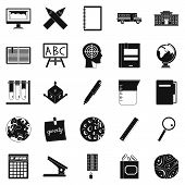 Survey Icons Set. Simple Set Of 25 Survey Icons For Web Isolated On White Background poster