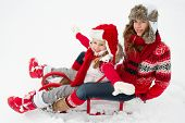 picture of snow-slide  - Happy winter  - JPG
