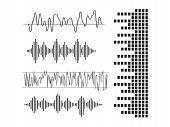 Signal Wave Set. Analog Signals, Digital Sound Waves poster