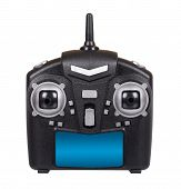 Black Remote Control For Drone, Rc With Antenna poster