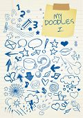 stock photo of moon-flower  - Doodle set 1 - JPG