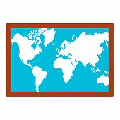 Wall World Map Icon. Flat Illustration Of Wall World Map Vector Icon For Web Design poster