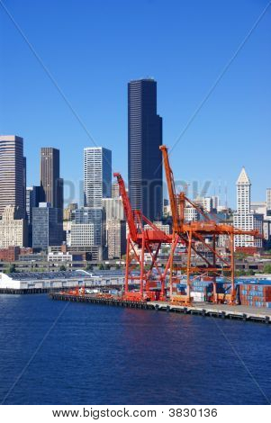 Dockyard Cranes, Seattle Waterfront