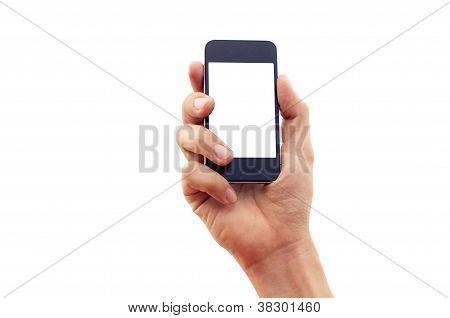 Mano aislada Smartphone o teléfono