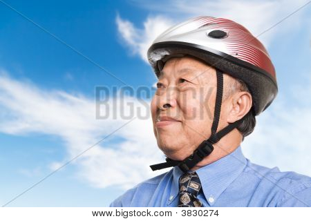 Active Senior Asian Businessman