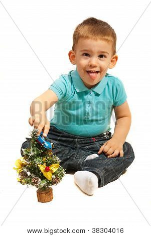 Cute Toddler Boy Playing