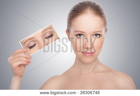 Concept. Open Eyes Of Women
