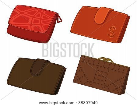 Leather wallets, set