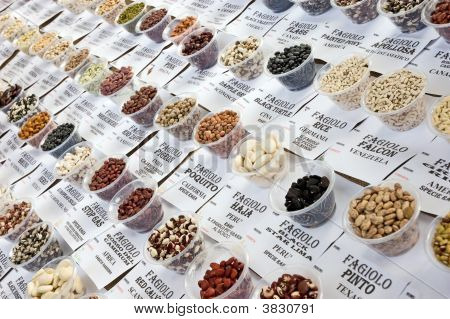 Collection Different Kinds Pea Bean
