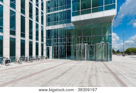 Entrance Of An Office Building