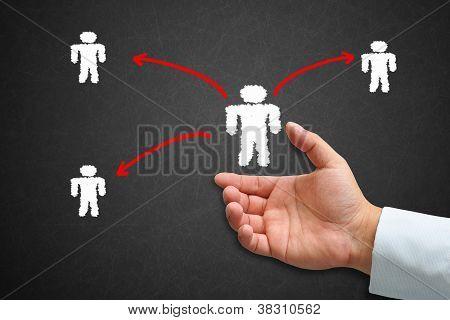 Human Hand With Human Icon