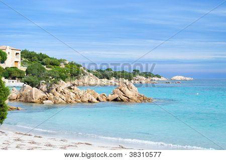 Capriccioli Beach With Rocks