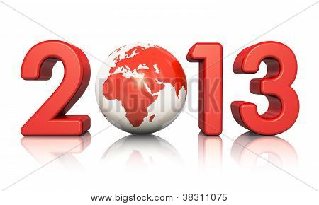 New Year 2013 concept