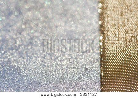 Glitter Sparkles Dust And Golden Ribbon