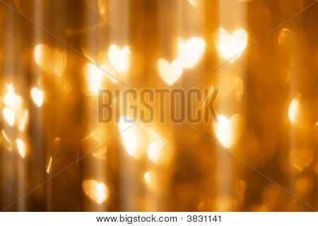 Magical Heart Shape Lights, Defocused