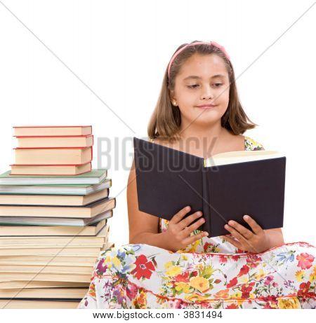 Adorable Girl Reading