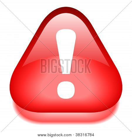 Vector danger red glossy icon