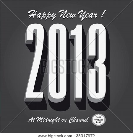 Happy new year 2013 retro vintage tv show