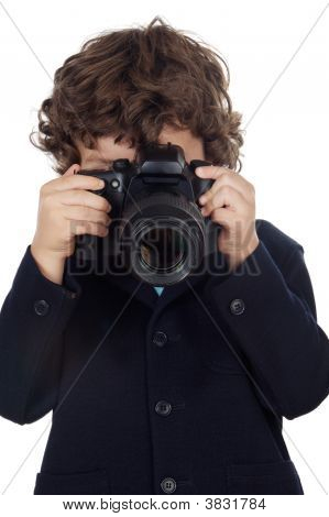 Boy Taking Photo