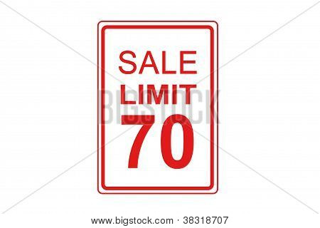 Sale Limit Is 70%
