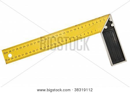Iron Ruler With Angle Bar