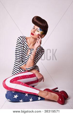 Fashion Portrait Beautiful Girl