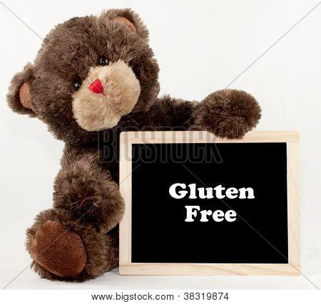 Gluten Free Bear Chalkboard