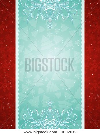 Blue Christmas Background, Vector
