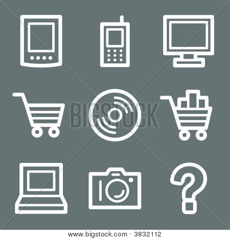 White Electronics Web Icons V2
