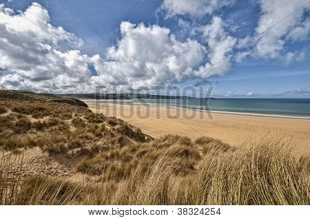 Beautiful Cornwall Beach Landscape