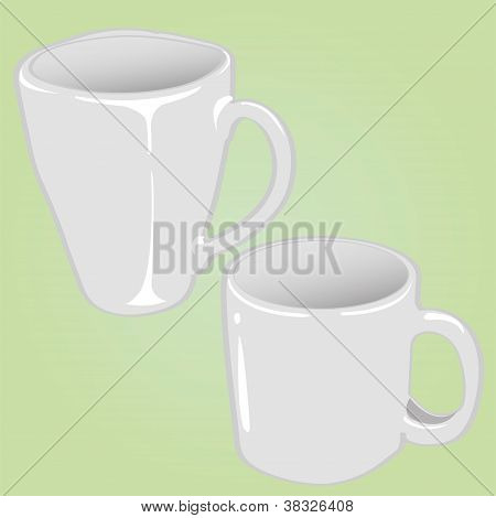 ceremic cup vector