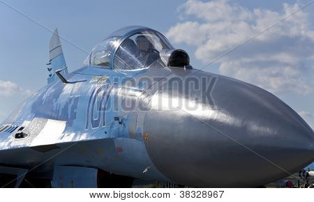Kyiv, Ukraine - September 29:mikoyan Mig-29 Fighter Cockpit. Aviation Salon Aviasvit-xxi;septem Ber