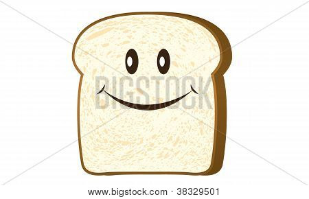 Smile bread toast slice