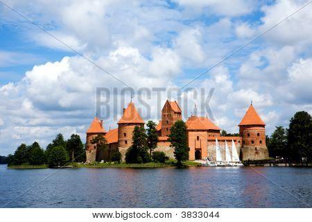 View Of Beautifu Castle Trakai