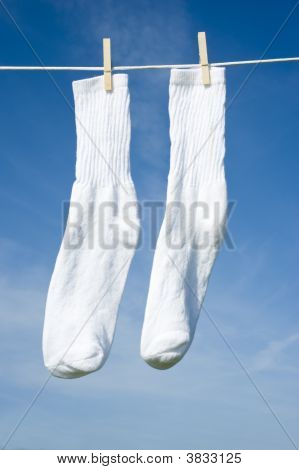 White Socks On A Clothesline