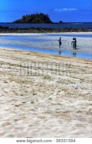 People In Andilana Beach