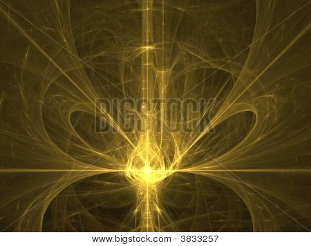 Yellow Glass Light. Abstract Background.