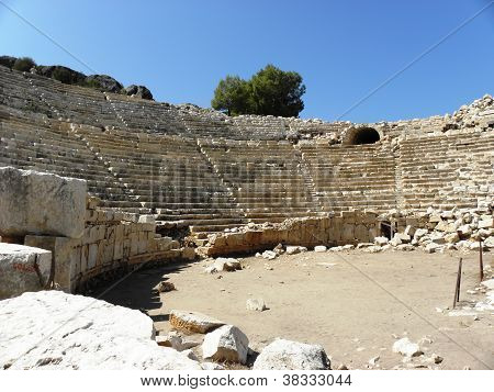 Amphitheater of the ancient city of Patara.