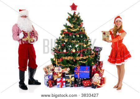 Papá Noel y mujer
