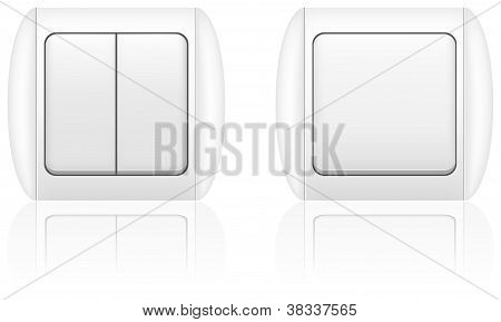 Electric Light Switch Vector Illustration