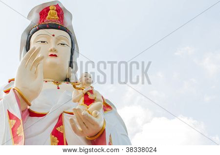 The Guan Yin Buddha Statue