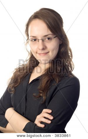 Smart Arm-Crossed Business-Woman